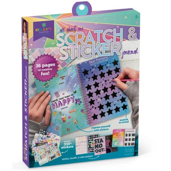 Craft-tastic All About Me Scratch & Sticker Journal-ANN WILLIAMS GROUP-hip-kid