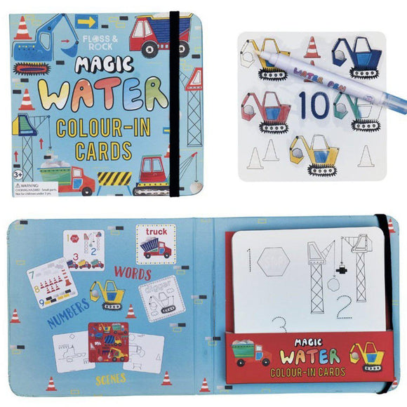 Floss & Rock Magic Color Changing Water Cards - Construction-FLOSS & ROCK-hip-kid