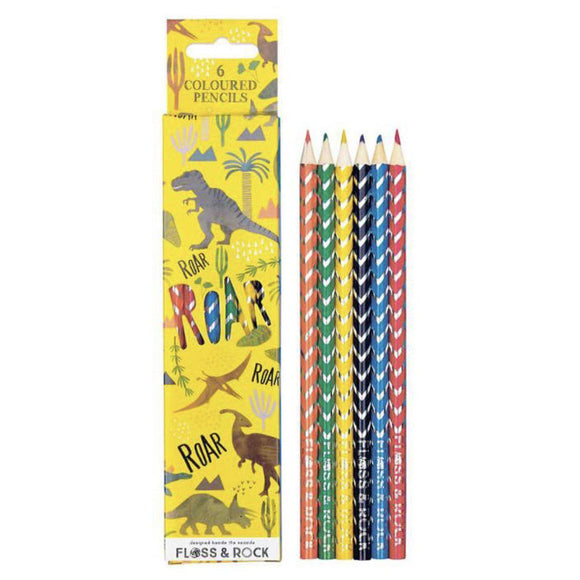 Floss & Rocks Dinosaur Colored Pencils-FLOSS & ROCK-hip-kid