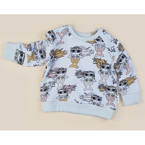 Huxbaby Meow Maid Sweatshirt-Huxbaby-hip-kid