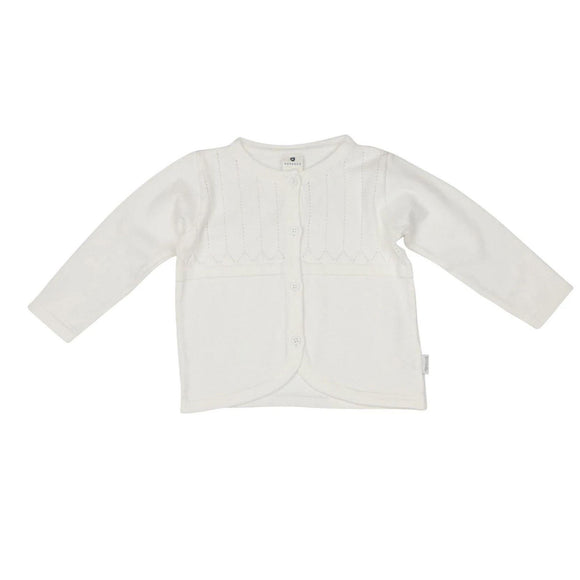 Korango White Pointelle Cardigan-KORANGO-hip-kid