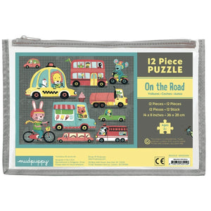 Mudpuppy 12 pc Pouch Puzzle - On the Road-HACHETTE-hip-kid
