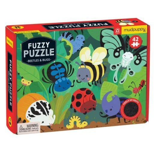 Mudpuppy Beetles and Bugs Fuzzy Puzzle-HACHETTE-hip-kid