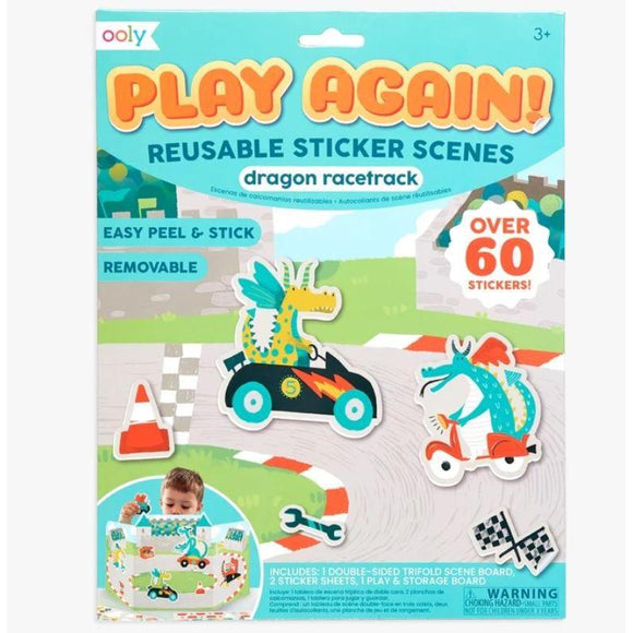OOLY Play Again Reusable Sticker - Dragon-OOLY-hip-kid