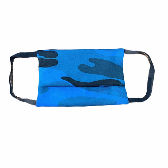 Project Social Tee Face Mask (ages 4+) - Blue Camo-Project Social T-hip-kid