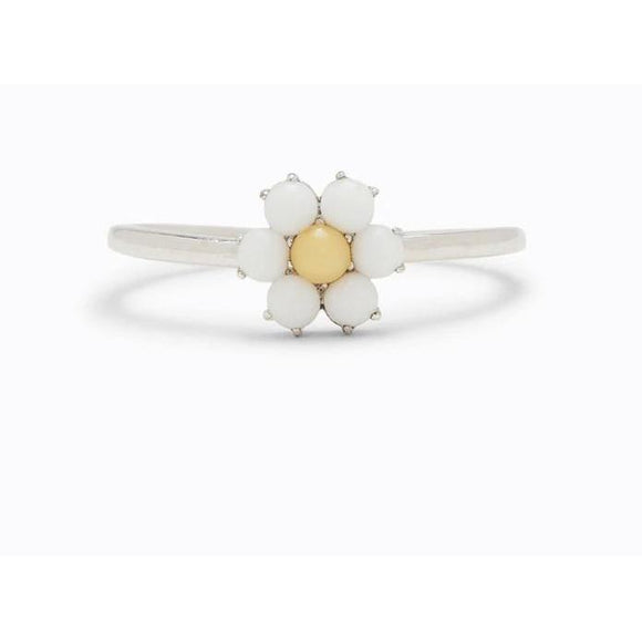 Puravida Gemstone Daisy Ring (Silver)-PURAVIDA-hip-kid