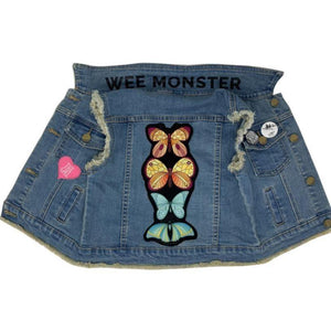 Wee Monster Butterfly Denim Vest-WEE MONSTER-hip-kid