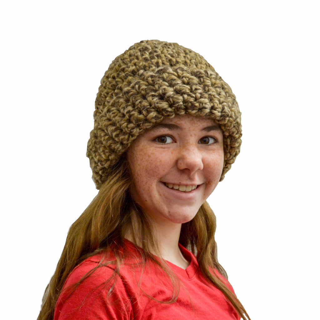 Toffee Crochet Hat - Handmade by the Jonas Family