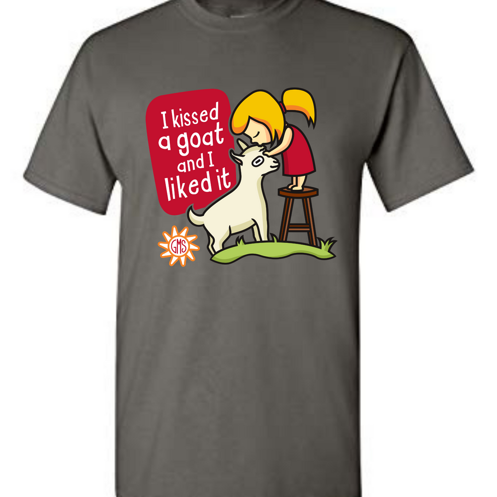 """I Kissed A Goat"" Charcoal Gray T-Shirt"