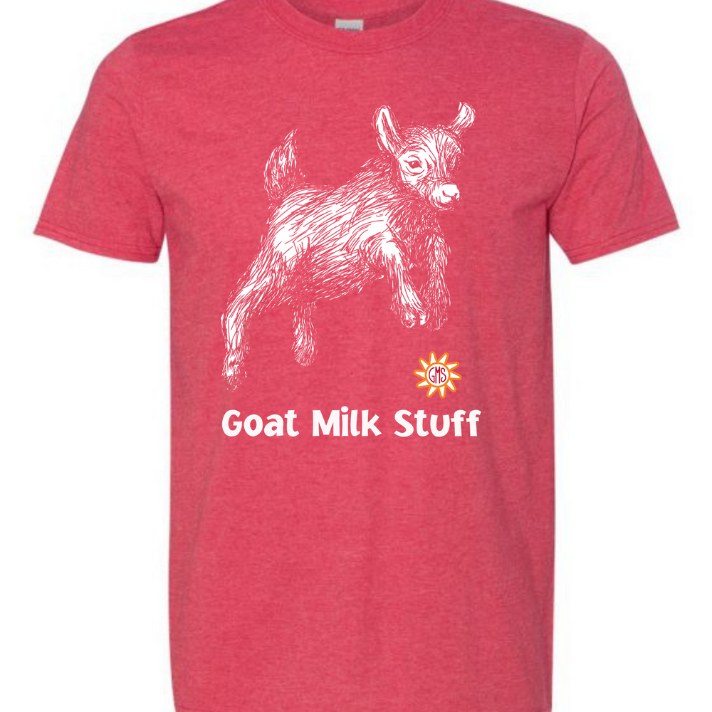 Goat Milk Stuff Heather Red T-Shirt