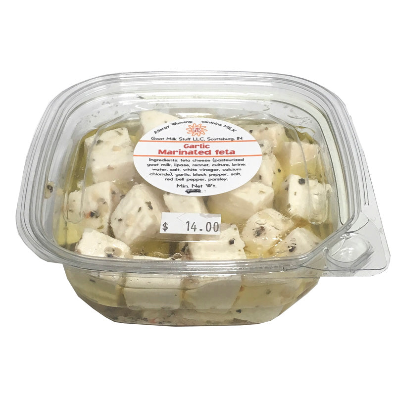 Goat Cheese Marinated Fresh Feta <br>Garlic