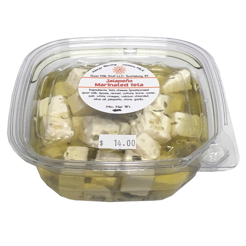 Goat Cheese Marinated Fresh Feta <br>Jalapeno