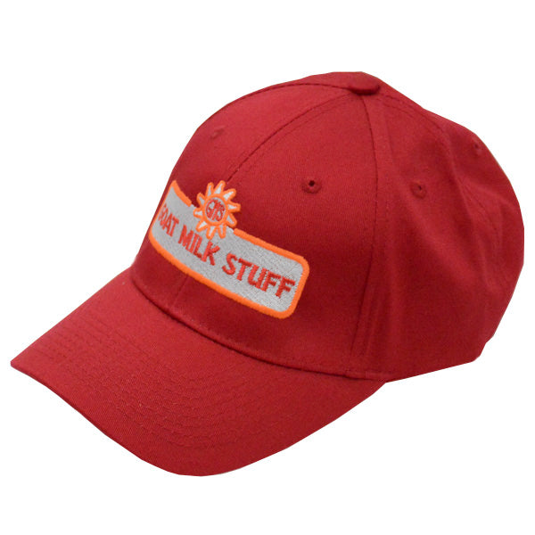 goat milk stuff ball cap - red hat
