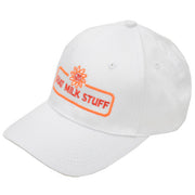 goat milk stuff ball cap - white hat