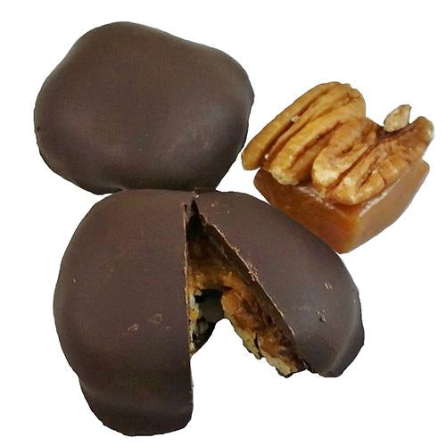 goat milk Chocolate Covered Caramel with Pecans