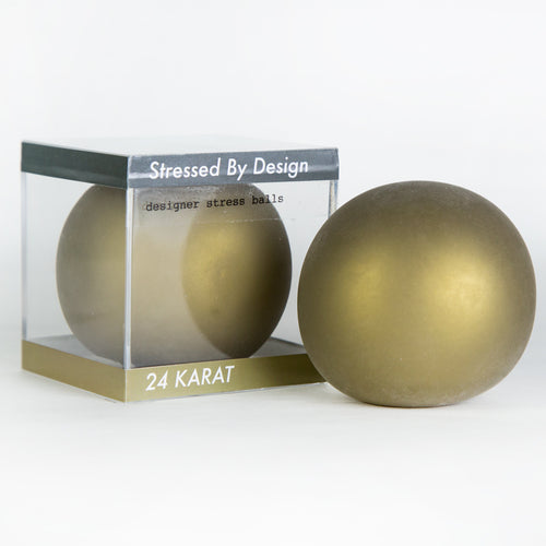 Designer Stress Ball - 24 Karat Gold