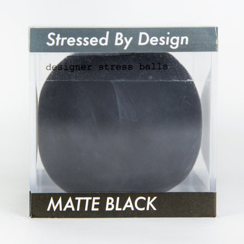Designer Stress Ball - Matte Black