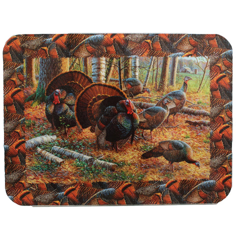 "Cutting Board - Turkey, Size 12"" x 16"""