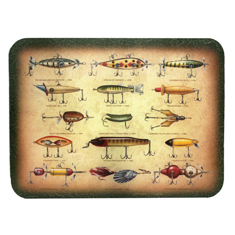 "Cutting Board - Antique Lure, Size 12"" x 16"""