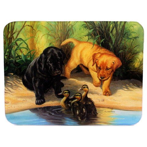 "Cutting Board - Next Generation-Lab Pups, Size 12"" x 16"""