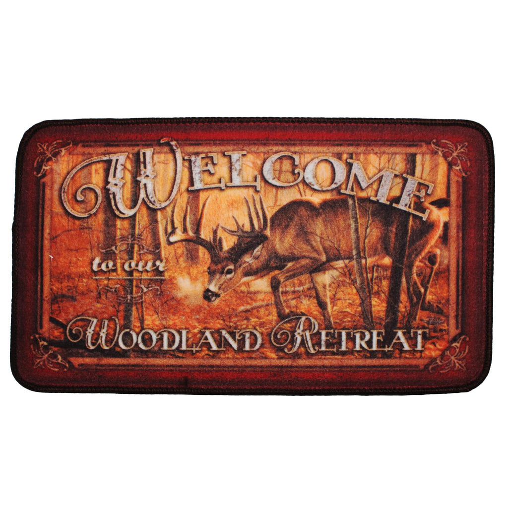 "Door Mat - Welcome, Deer, Size 30"" x 18"""