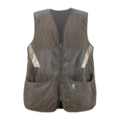 Men's Summit Shooting Vest - Green-Dark Gray, Large