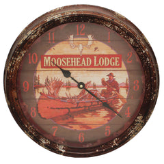 "15"" Metal Clock - Moosehead, Gifts, Promotional Items, 29.49, Rivers Edge Products"
