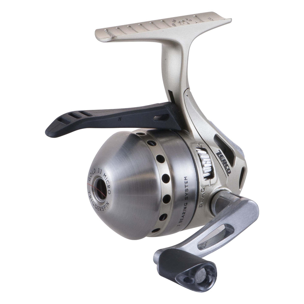 33 Micro - Gold Triggerspin Reel, Box, 4.3:1, Ambidextrous, Reels, Spincast, Fishing, 39.67, Zebco / Quantum