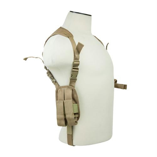 Bryant Outdoors - Ambidextrous Horizontal Shoulder Holster - Tan - Holsters & Accessories - NcStar - outdoors - fishing - hunting - camping - survival