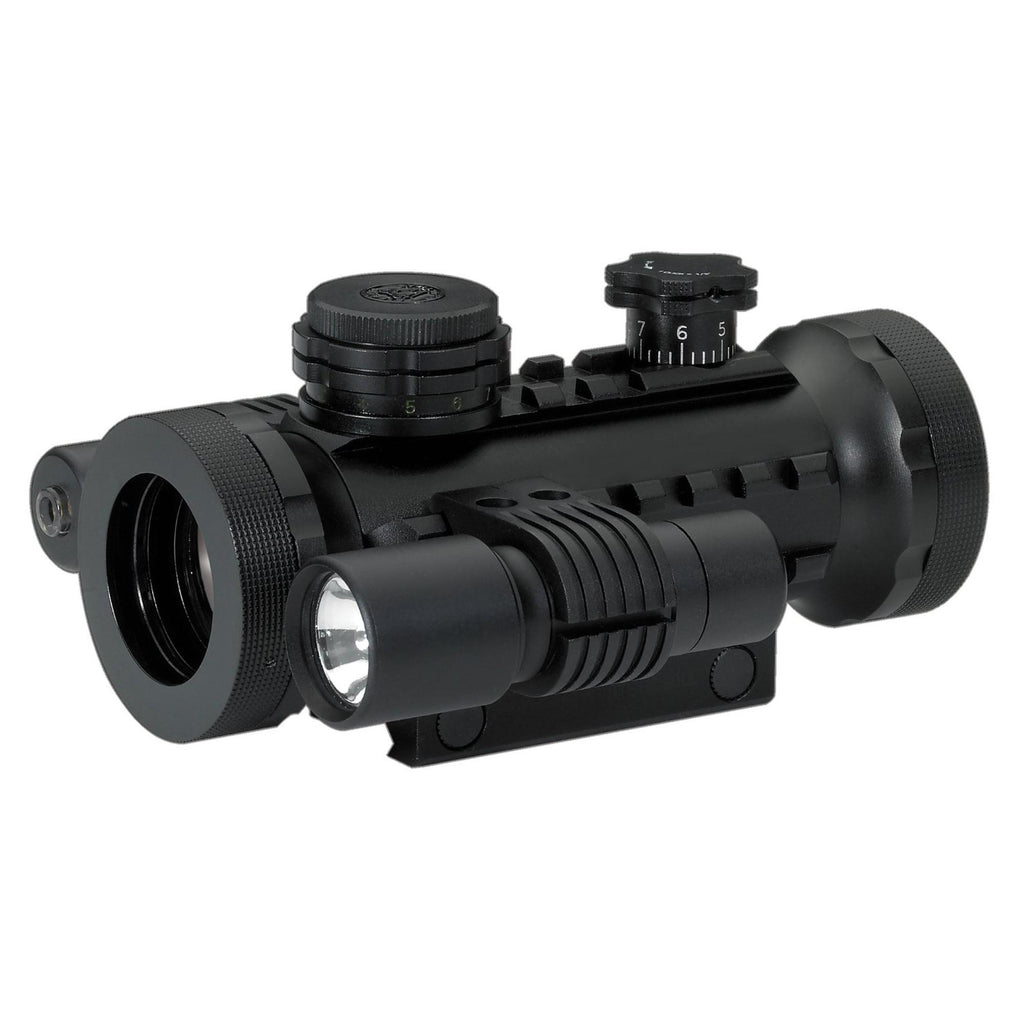 30mm Tactical RGB, with Laser & Flashlight, Electronic & Accessories, Red Dot Sights, Sights, Optics, 211.45, BSA