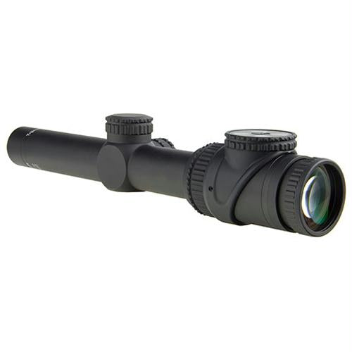 AccuPoint 1-6x24mm Riflescope - 30mm Main Tube with BAC Green Triangle Post Reticle, Matte Black, 1, 24, 30mm, 6, Matte Black, Scopes & Accessories, Optics, 1400.50, Trijicon