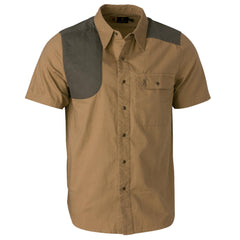 Austin Shooting Shirt, Short Sleeve - Taupe-Loden, Medium