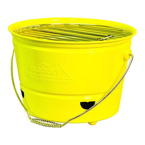 Portable Barbecue BBQ Bucket Grill - Yellow