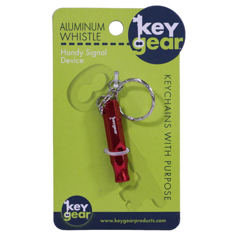 Aluminum Whistle, Red