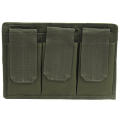3 Pocket Magazine Pouch with Velcro Back - Olive Drab, 3, Belt, Green, Magazine Pouches - Multiple, Nylon, Holsters & Accessories, 25.64, Galati Gear