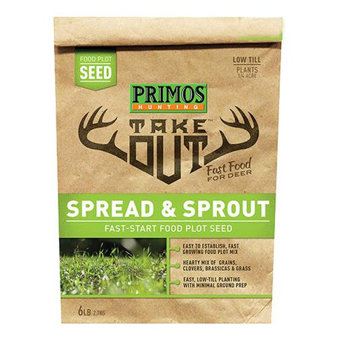 Take Out - Spread and Sprout Food Plot Seed, 5 lb Bag