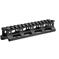 "UTG Super Slim Picatinny Riser Mount - 0.83"" Height,13 Slots, Black"