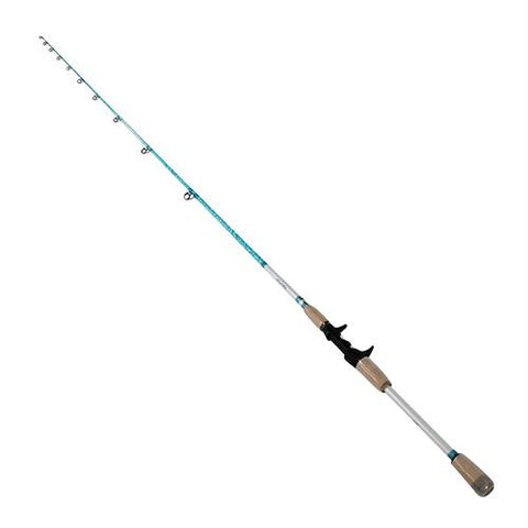 "Wright & McGill Saltwater Casting Rod - 7'6"" Length, 1 Piece, 8-17 lb Line Rate, 1-4-3-4 oz Lure Rate, Medium Ppwer"