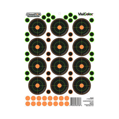 "Peel and Stick Targets - 2"" Bullseyes with 60 Pastors, Package of 5"