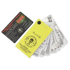 Izula Gear Pocket Nav Card Set with Rite in the Rain Micro Notebook