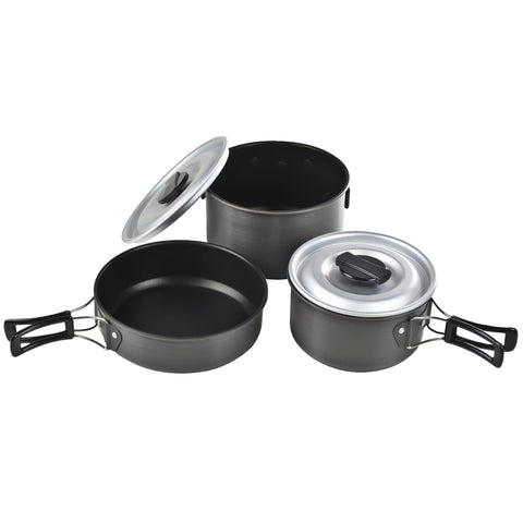 Ridge Hard Anodized Cookset - Medium, Cookset, Non-Stick, Pots and Pans, Cookware, 30.74, Chinook