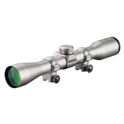 .22 Mag Series Riflescope - 4x32 Silver, Truplex with Scope Rings