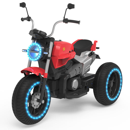 ELECTRIC RIDE ON MOTORCYCLE FOR KIDS - 6V BATTERY POWERED 3 WHEEL-RED