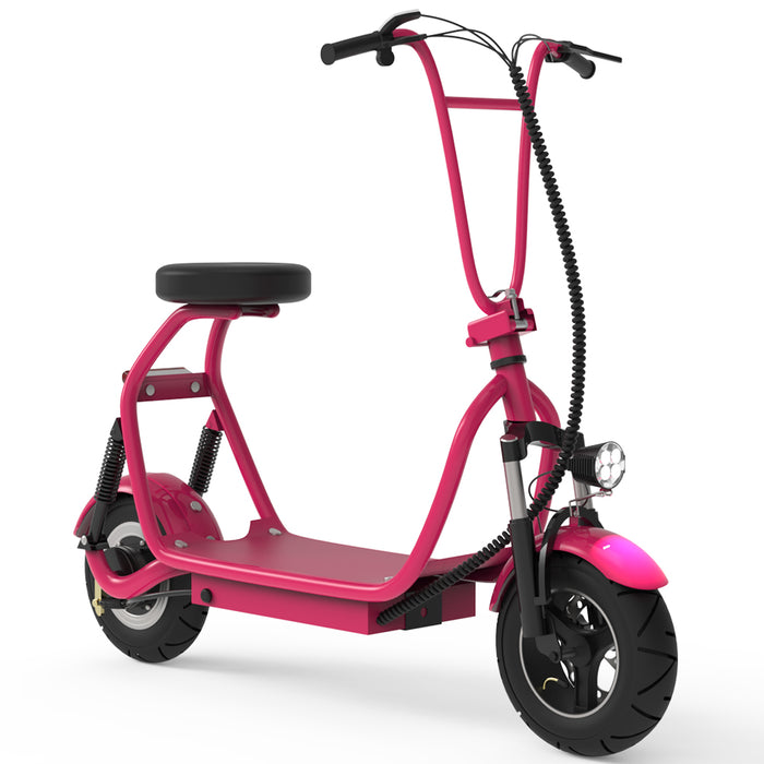 Adult Electric Scooter Up to 18 MPH Commuter Scooter-18.6 Miles Long-Range Battery-pink