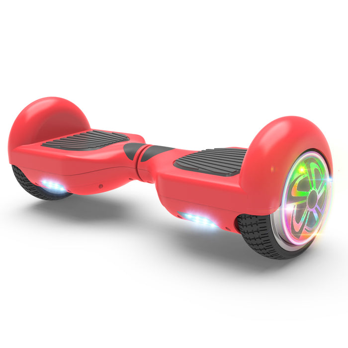 "6.5"" Hoverboard Flash Wheel Self Balancing Electric Scooter UL 2272 Certified-Red"