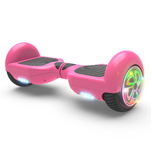 "6.5"" Hoverboard Flash Wheel Self Balancing Electric Scooter UL 2272 Certified-Pink"