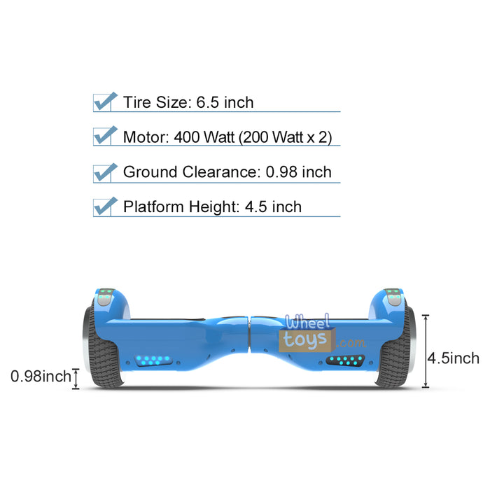 "6.5"" UL Certified Safe Bluetooth Hoverboard-Blue"