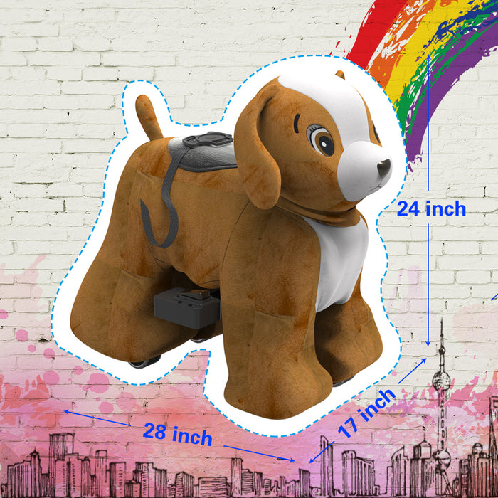 Electric Stuffed Ride on Dog Animals for 3-7 Years Old