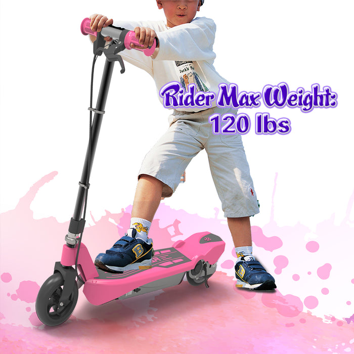 Electric Scooter for Kids-Pink