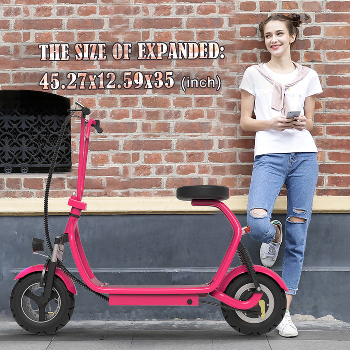 Adult Electric Scooter Up to 18 MPH Commuter Scooter-18.6 Miles Long-Range Battery | Pink